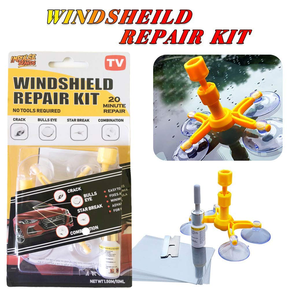 choolo Windshield Repair Kit, Professional Windscreen Windshield Repair Tool Set, Quick Fix DIY Car Auto Kit Window Glass Scratch Repair Kits for Chip and Crack