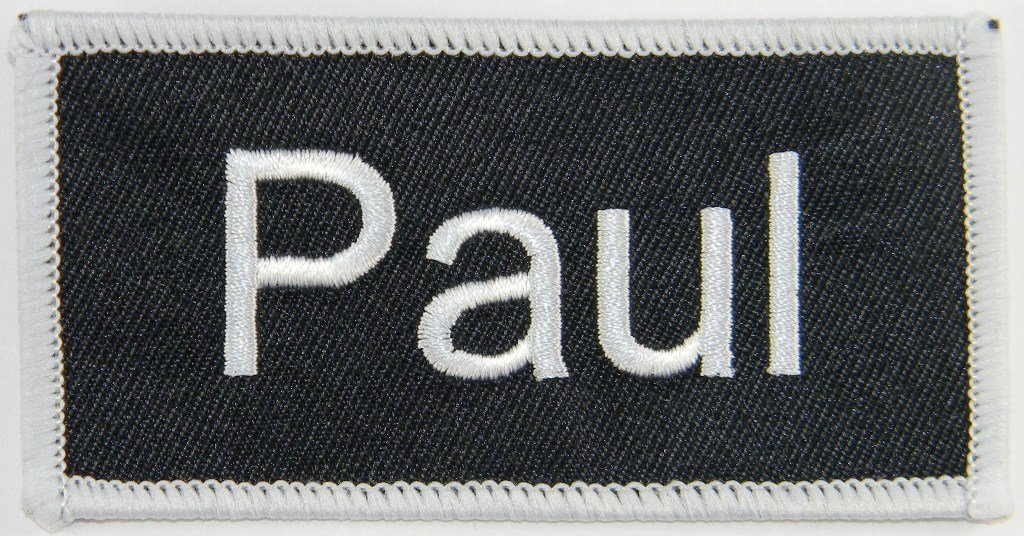Name Tag Paul Iron On Uniform Applique Patch by Cool-Patches   B0089XIWP0