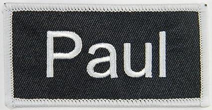 amazon com paul name tag patch uniform id work shirt badge