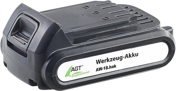 Agt Professional Zubehör Zu Ersatz Akkus Li Ion Werkzeug Akku Aw 18 Hak 18 V 2000 Mah Schnellwechselakku Garten