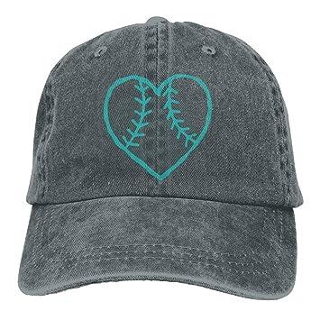 Amazon.com   Gorgeous products Sports Denim Cap Softball Heart Women ... e9a667e2a136