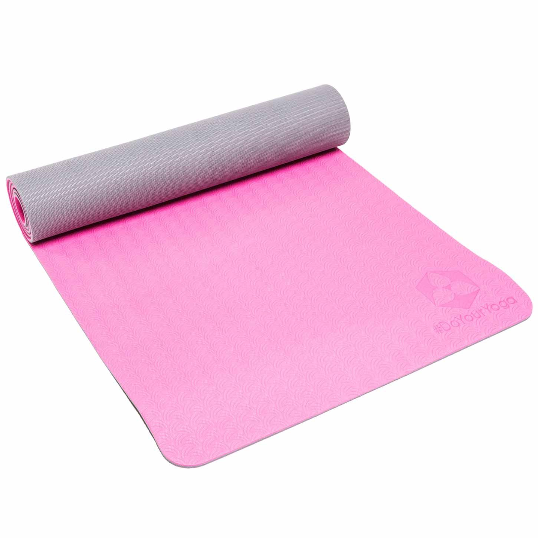 Esterilla de yoga »Shitala« / Colchoneta de deporte para Yoga, Pilates y fitness / Estera de TPE respetuosa con el medio ambiente, hipoalergénica, ...