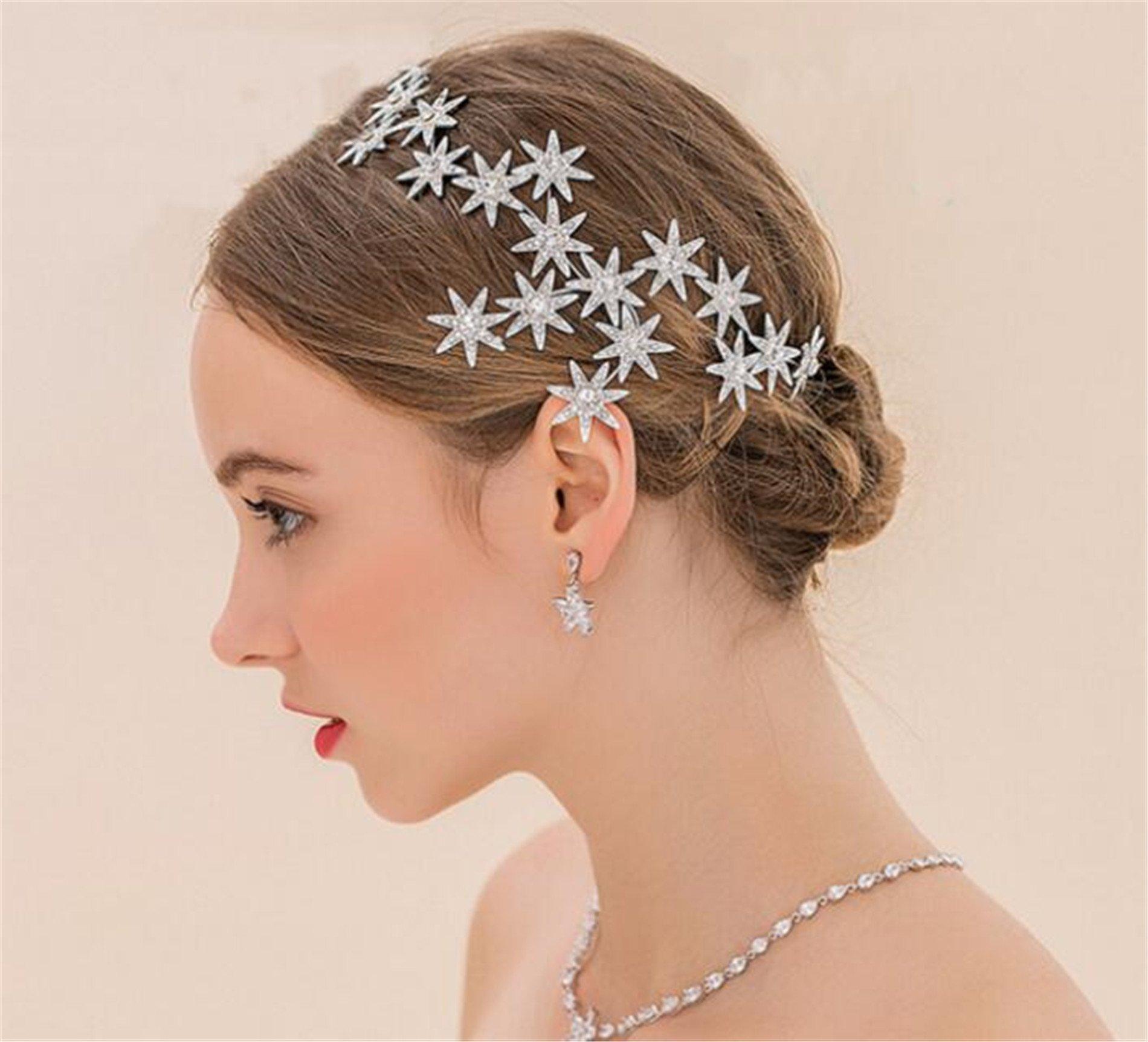 Luxury Sparkly Stars Style Rhinestones Wedding Bridal Headband Bride Hair Accessories(CR50)