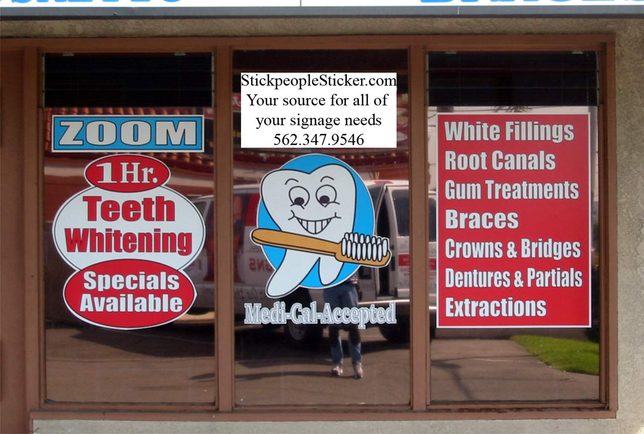 """Lettering and Graphics 11 1//2 X 15 to 29 X 60 Full Color Vinyl Signage Full Color, 29/"""" X 60/"""""""