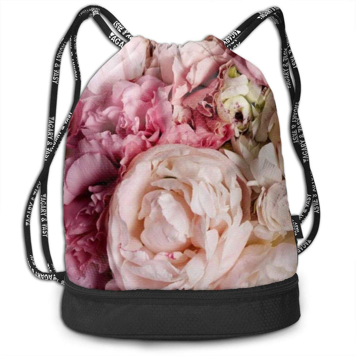 Flowers Multifunctional Bundle Backpack Shoulder Bag For Men And Women
