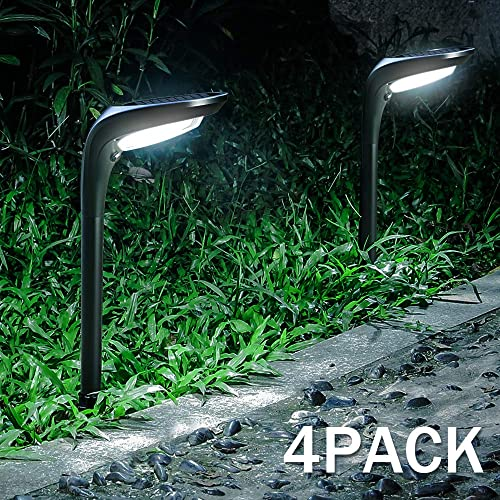 OSORD Outdoor Solar Pathway Lights, Waterproof 2-in-1 Solar Powered Wall Light Landscape Lighting Auto On Off with 2 Color Modes Solar Lights for Garden Path Yard Patio Walkway Driveway Pool 4 Pack