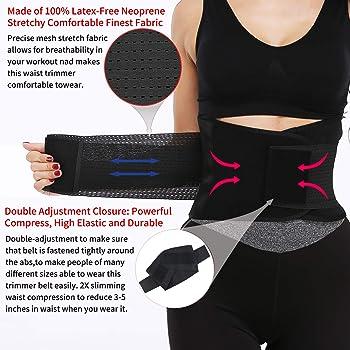 Weight Loss Latex X-Shape Belt KIWI RATA Women Workout Waist Trainer with Double Straps