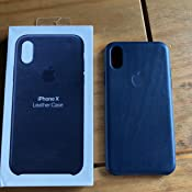 brand new 31969 bf8c0 Apple MQTC2ZM/A Leather Case for iPhone X - Midnight Blue