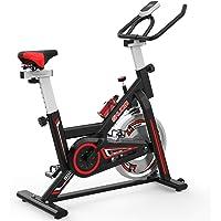 SHUOQI Bicicleta estáticas para Fitness, Bici de Spinning, Calidad Profesional, Rueda de inercia bidireccional…