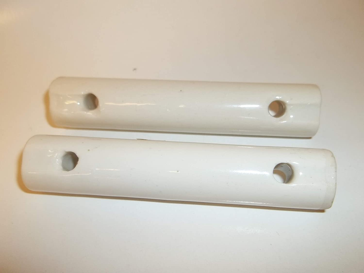 Ceramic Porcelain 4 Long Ham Radio Antenna White Dog Bone Insulator Large 2 pcs