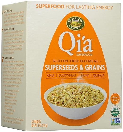 Natures Path Organic - Harina de avena Superseeds de Qia Superfood y granos -