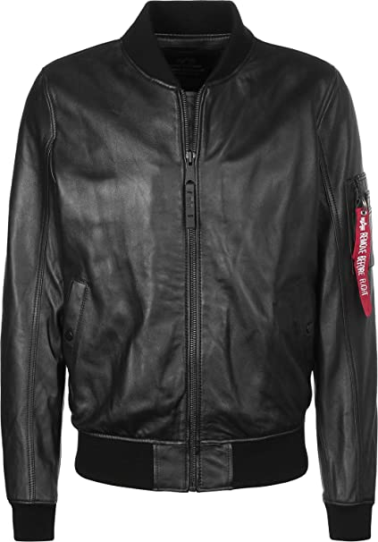 more photos 630d7 4cec2 Alpha Industries Men Jackets/Leather Jacket MA-1 Leather LW ...