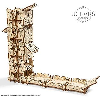UGEARS Modelo Mecánico Puzzle 3D - Torre de Dados Modular de Madera - Dice Tower - 4 Copas de Dados Maquetas para Construir Adultos para Juegos de ...