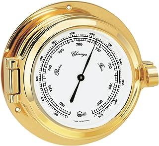 BARIGO Poseidon Series Porthole Ship's Barometer - Brass Housing - 3. 3' Dial