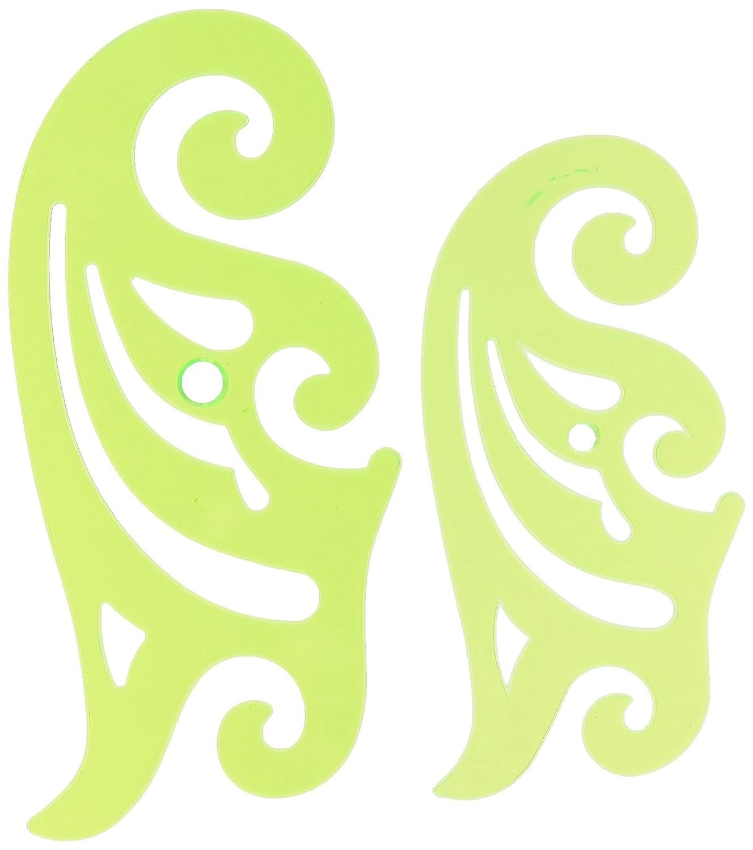 Bocetado Dibujo Regla Curva Francesa Plantilla Verde Transparente ...