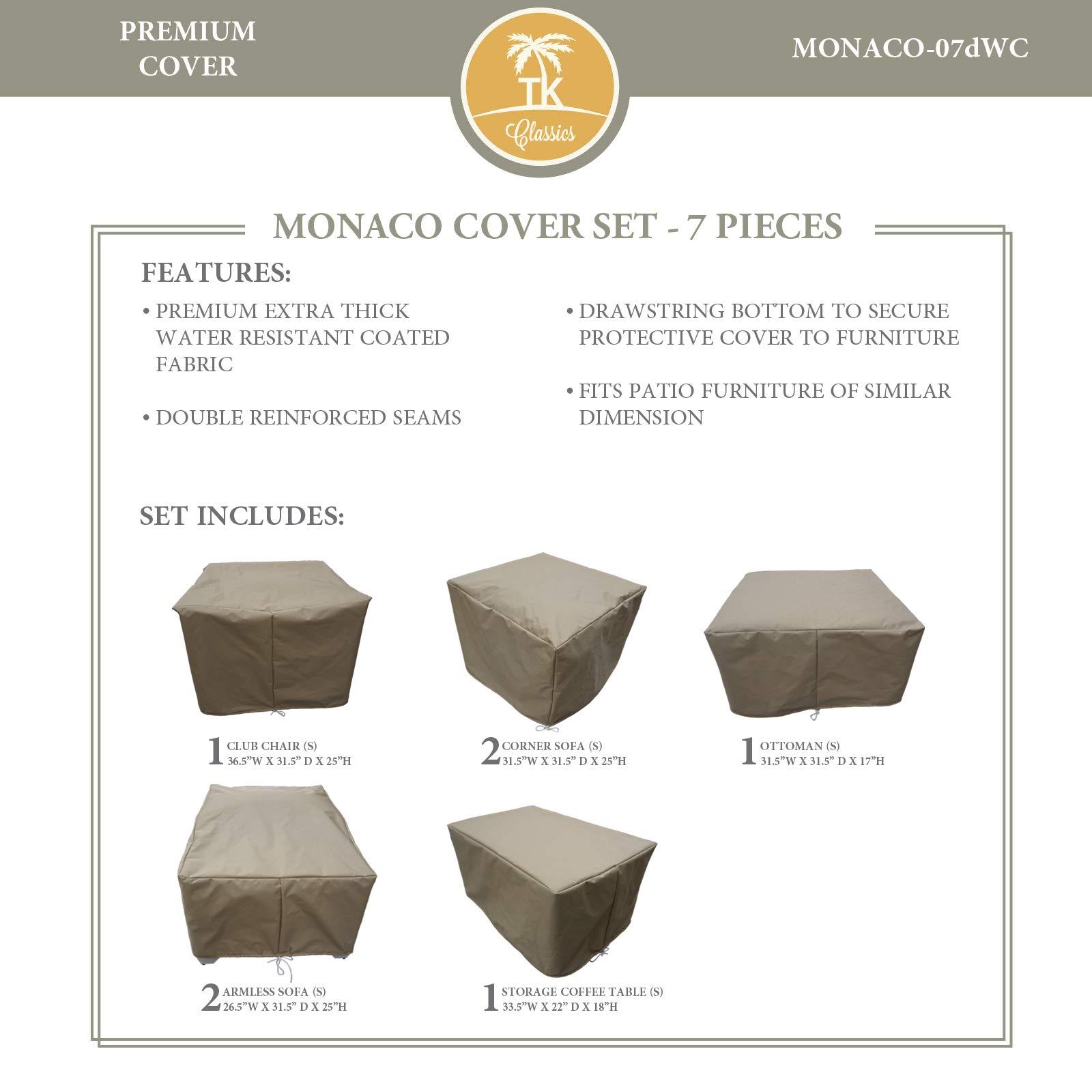 TK Classics MONACO-07dWC Covers Patio Furniture, Beige