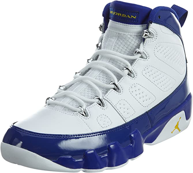 1e30bae22be Amazon.com | Nike Mens Air Jordan 9 Retro White/Tour Yellow-Concord Leather  Size 8.5 | Fashion Sneakers