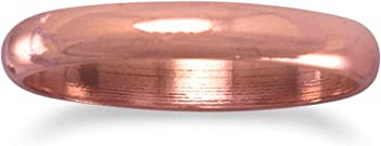 3mm Solid Copper Ring, Sizes 5-9