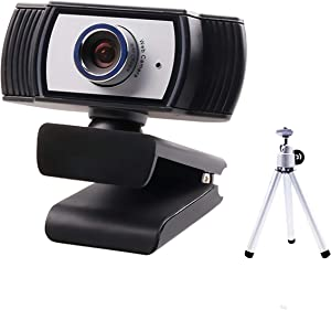 CORN C33 1080P HD Webcam with Microphone, Webcam for Gaming Conferencing, Laptop or Desktop Webcam, USB Computer Camera for Mac Xbox YouTube Skype OBS, Free-Driver Fast Autofocus Add Tripod Stand