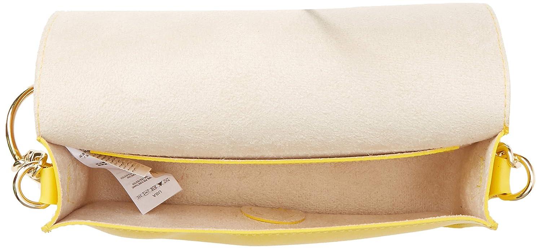 Bright Yellow New Look Womens Circle Chain Detail Cross-Body Bag Yellow