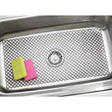 mDesign Decorative Kitchen Sink Dish Drying