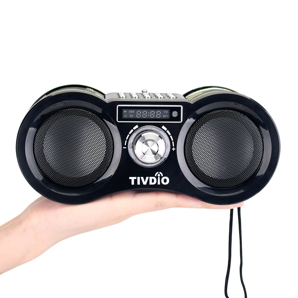 TIVDIO V-113 Portable Transistor FM Stereo Radio Support Mp3 Music Player Speaker Micro SD IF Card Aux Line In Remote(Camouflage) by TIVDIO (Image #9)