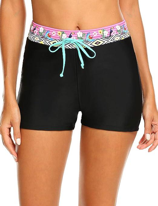 Parabler Damen Badeshorts Badehose Bikinihose Schwimmshorts UV Schutz Wassersport Sommer Strand Hose