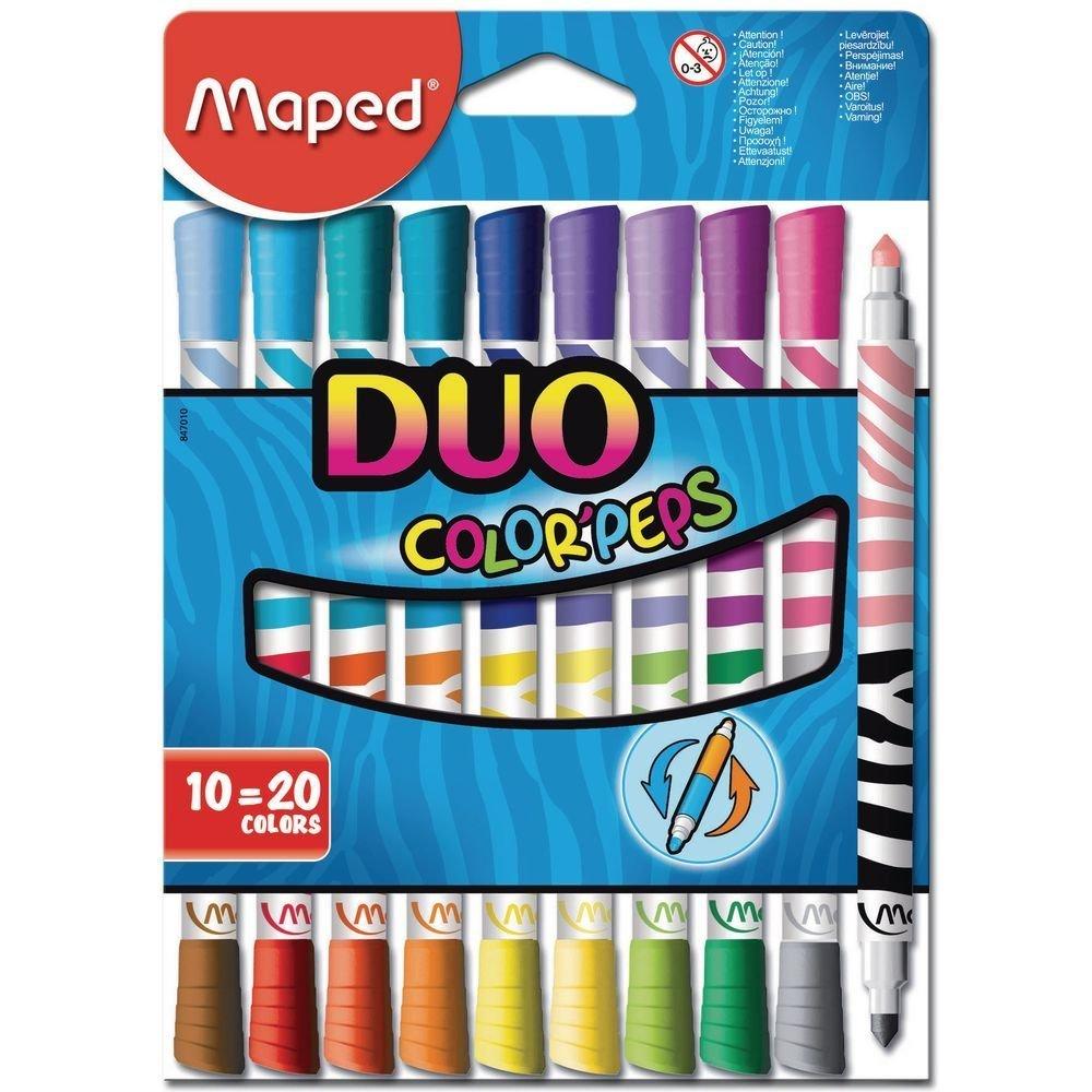 12-er Packung 24 farben Maped M829600 Buntstifte Color Peps Duo