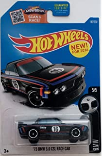 Hot Wheels 2016 BMW 73 BMW 3.0 CSL Race Car 190/250, Black