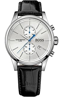 Hugo Boss Jet Black Dial Leather Strap Mens Watch 1513282