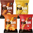 Peatos Crunchy Curls Snacks, Variety Pack, 3 Ounce (4 Count), Junk Food Taste, Made from Peas, Bold Flavors, 4g Protein and 3g Fiber, Pea Plant Protein Snack
