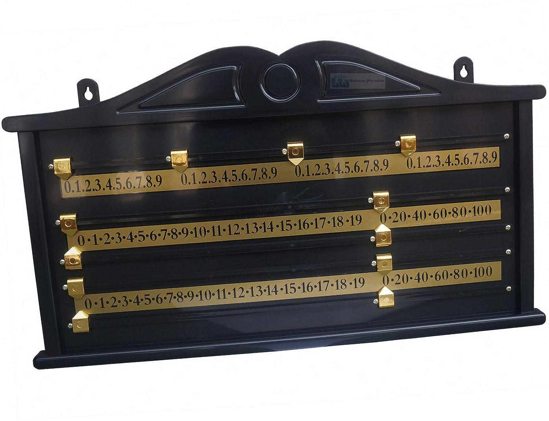 Traditional Snooker Scorer 4 Player Scoreboard
