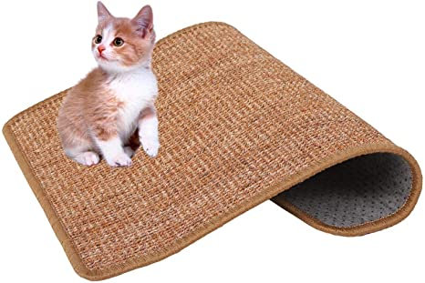 11.8x14.9 inch, Grey Natural Sisal Cat Scratching Mat LsaiFater Cat Scratching Mat Protect Carpets and Sofas