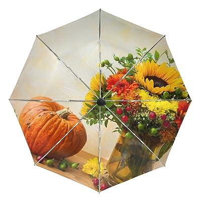 Windproof Auto Open Close Umbrella Flower Bonquet Compact Travel Umbrella