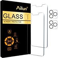 Ailun 2Pack Screen Protector Compatible for iPhone 13 Pro [6.1 inch] Display 2021 + 2 Pack Camera Lens Protector…