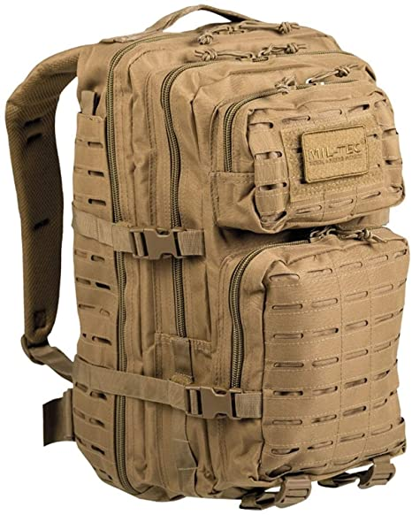 2ef877f63 Amazon.com : Mil-Tec US Assault Pack Large Laser Cut Coyote (14002705) :  Sports & Outdoors