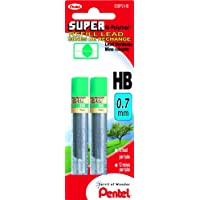 Pentel Super Hi-Polymer Lead Refill 0.7mm HB 24 Pieces of Lead - 50BP2-HB