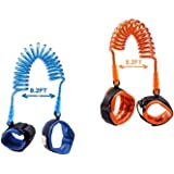 [2 Pack] Toddler Harness Walking Leash- Child Anti Lost Wrist Link - Child Safety Harness - 2.5M Orange + 2.5M Blue- Child Safety Wrist Strap