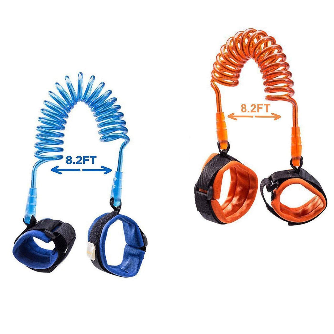 [2 Pack] Toddler Harness Walking Leash- Child Anti Lost Wrist Link - Child Safety Harness - 2.5M Orange + 2.5M Blue- Child Safety Wrist Strap HoLeis