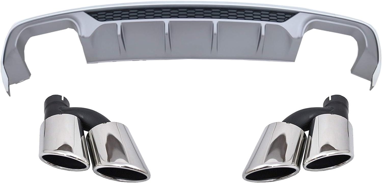 Valance Diffusore di Paraurti Punte Scarico Per Audi A3 8V Sedan 2012-2015 RS3 L