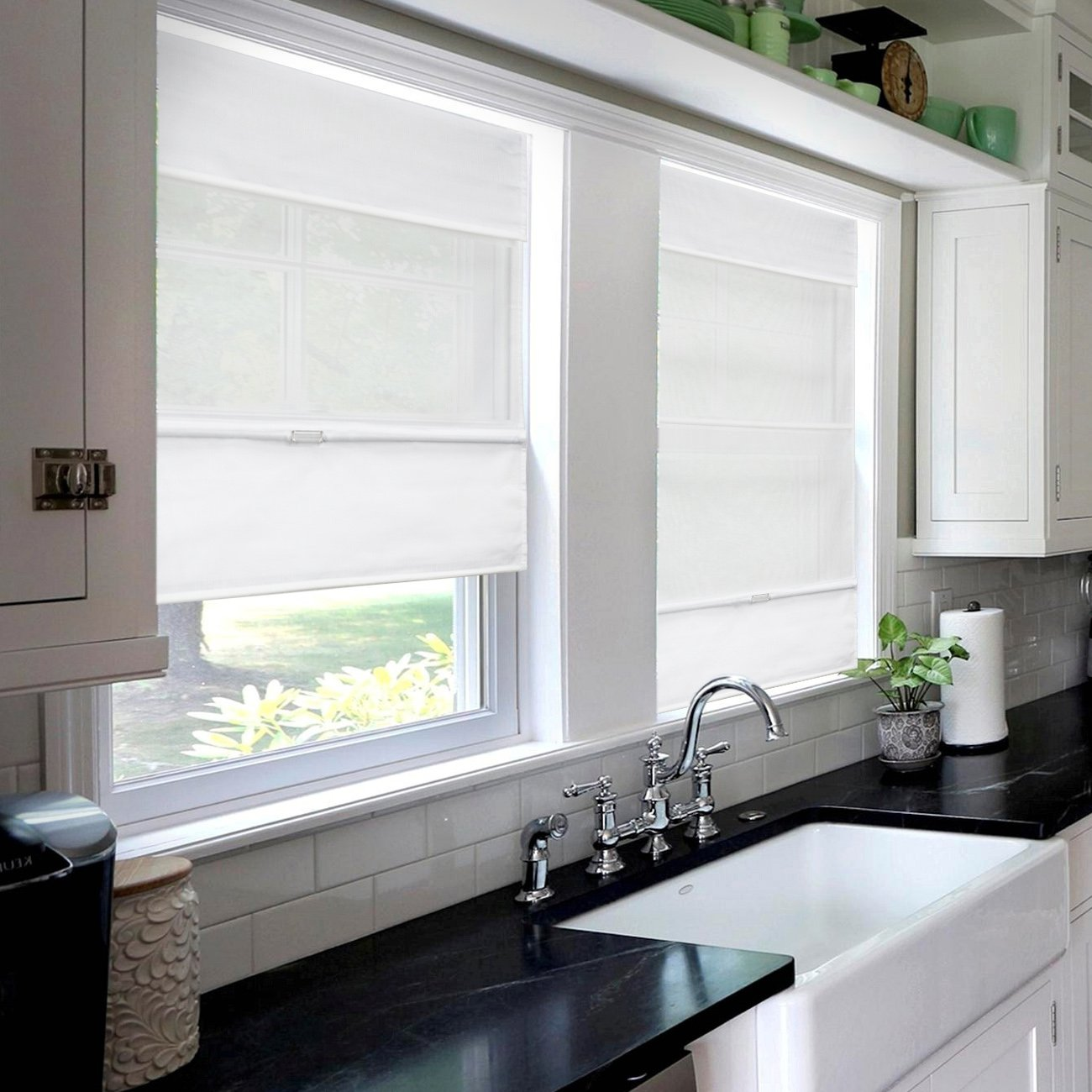 23 W X 64 H Chicology Cordless Magnetic Roman Shades Privacy Fabric Window Blind Light Filtering Daily Canvas Roman Shades Home Kitchen Swl13562 Nl