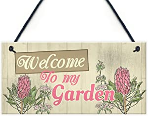 Welcome to My Garden Wood Signs Gifts for Nan Birthday, Christmas Day 12