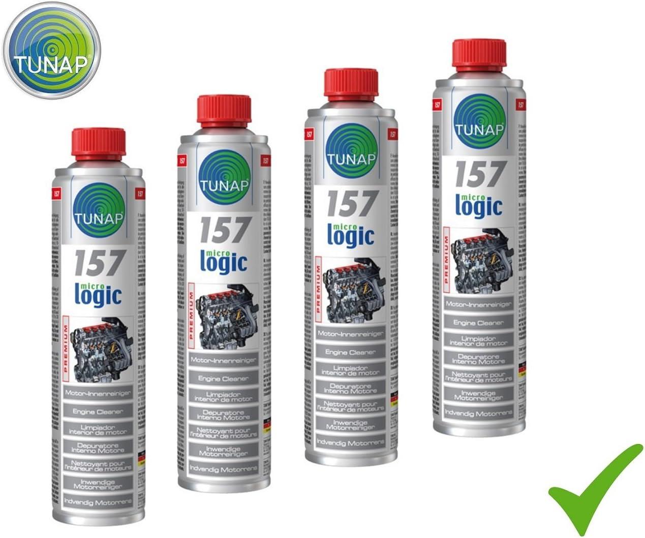 Tunap 4 X 400 Ml Micrologic Premium 157 Motor Innenreiniger Motorölsystem Motorreiniger Motor Reiniger Innen Lösemittelfrei Auto