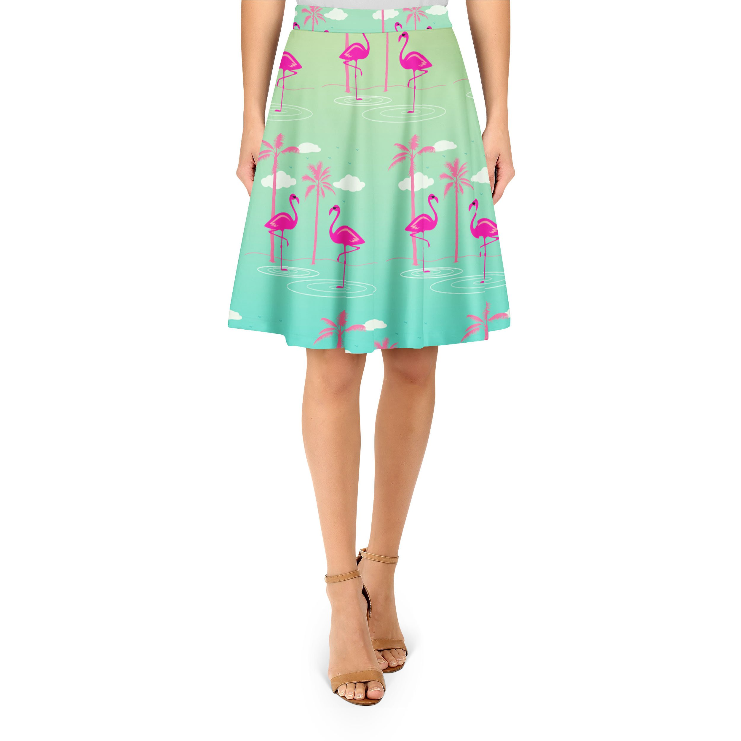 Flamingos in Sunglasses A-Line Skirt - XS