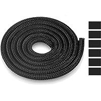 AGPTEK kabelslang, zelfsluitende kabelbescherming, geweven en snijdbare kabelmantel met 6 stabiele krimpkousen, flexibel…