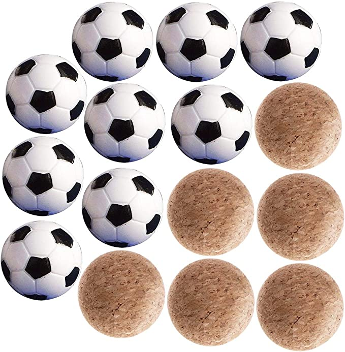 9pcs Mini Pelotas Fútbol 32mm de Plástico + 6pcs Pelota Futbolín ...