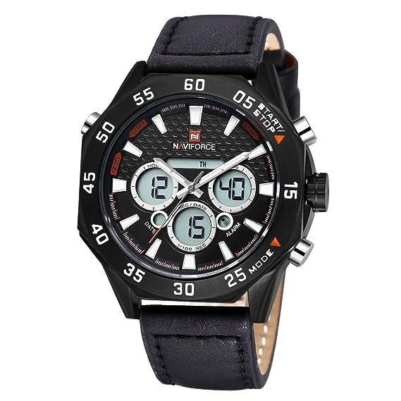 Venta caliente del reloj militar de los hombres militares negros del reloj que mira el reloj único resistente multifuncional con clase al aire libre: ...