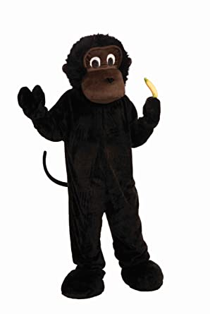 Forum Novelties Menu0027s Plush Gorilla Mascot Costume Black One Size  sc 1 st  Amazon.com : cheap mascot costumes for kids  - Germanpascual.Com