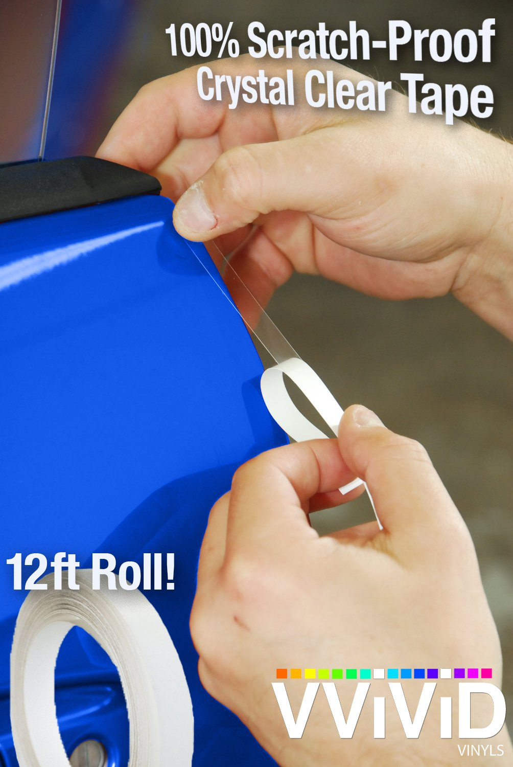 VViViD Clear Car Door Edge Sealing Paint Finish Protector Strip .38' Roll (.38' x 12ft Roll)