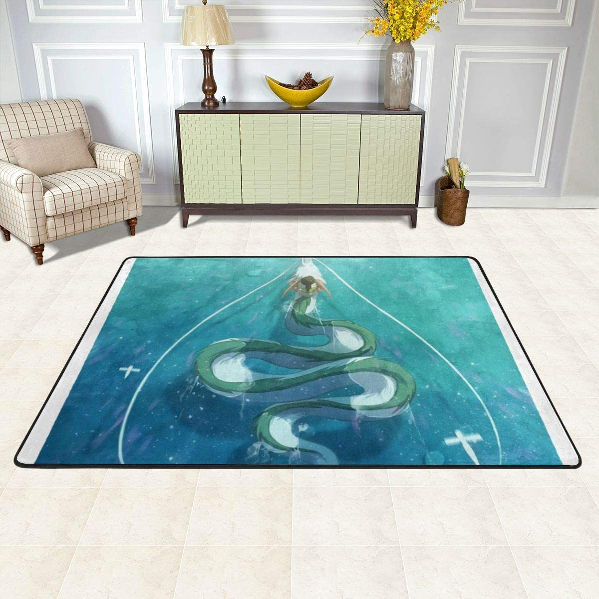 Miyazaki s Work-Spirited Away Carpet 36 X 24 in 72 X 48 in Floor Mat Outdoor Large Area Rugs.